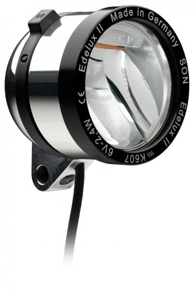Edelux II LED-Scheinwerfer für Nabendynamos-silber poliert