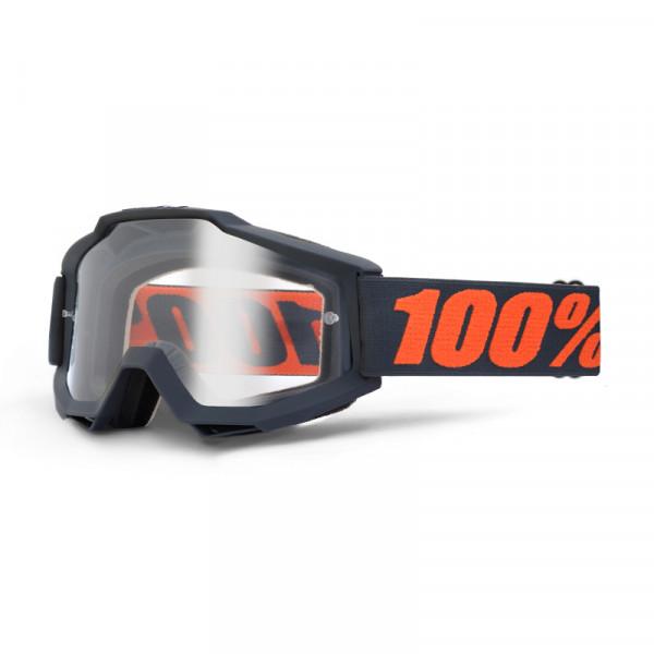 Accuri Goggle Anti Fog Clear Lens - Gunmetal