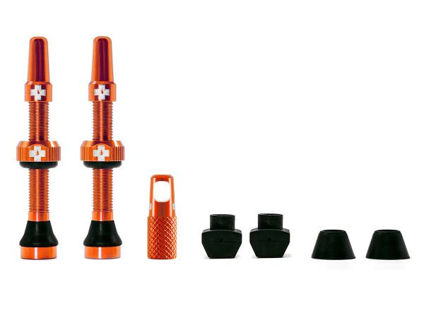 Ventile für Tubeless Reifen - Orange - Mtb & Road
