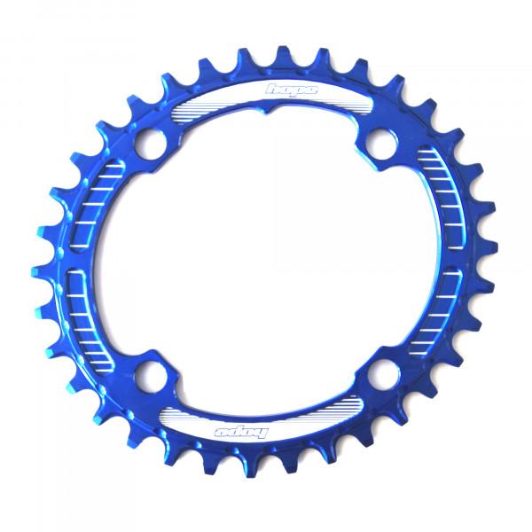 Oval Retainer Kettenblatt - blau