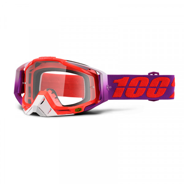 Racecraft Goggle Anti Fog Clear Lens - Watermelon