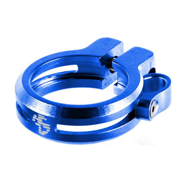 Sattelklemme mit Kabelführung 34,9 - blau