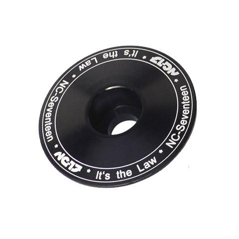 Headsetkappe CNC für Vorbau - Schwarz