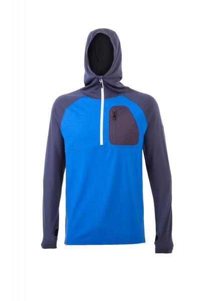 1/2 Zip Tech Hoody Bay Blue / Charcoal