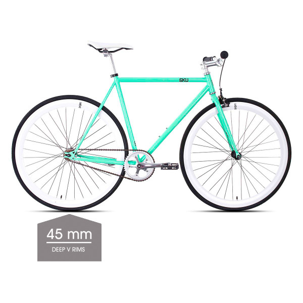 Milan 1 Singlespeed/Fixed Bike - 45 mm Deep V Felgen