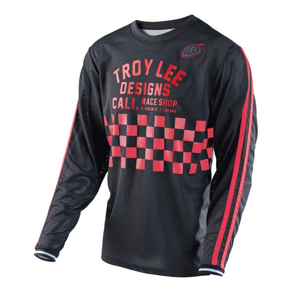 Super Retro Jersey Check - Black/Red