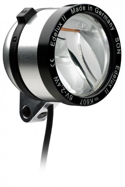 Edelux II LED-Scheinwerfer für Nabendynamos-silber eloxiert