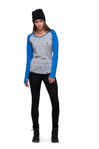 Raglan LS Women Bay Blue / Grey Lifts