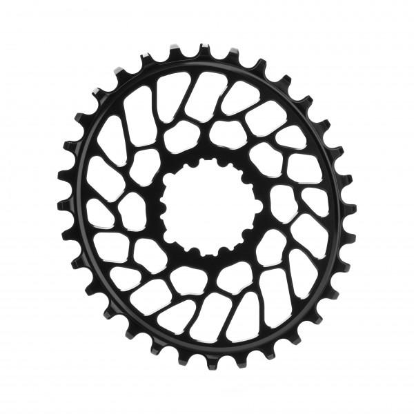 SRAM BB30 Direct Mount Kettenblatt - Oval - 0 mm Offset - schwarz