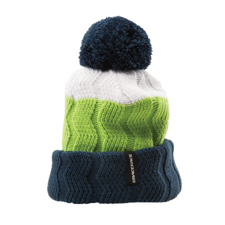 Bob Cable Knit Toque Bommelmütze - White/Green