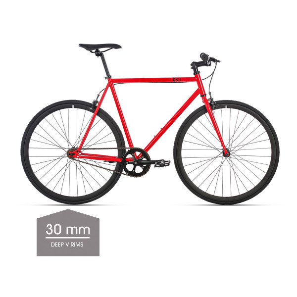 Cayenne Singlespeed/Fixed Bike - 30 mm Deep V Felgen