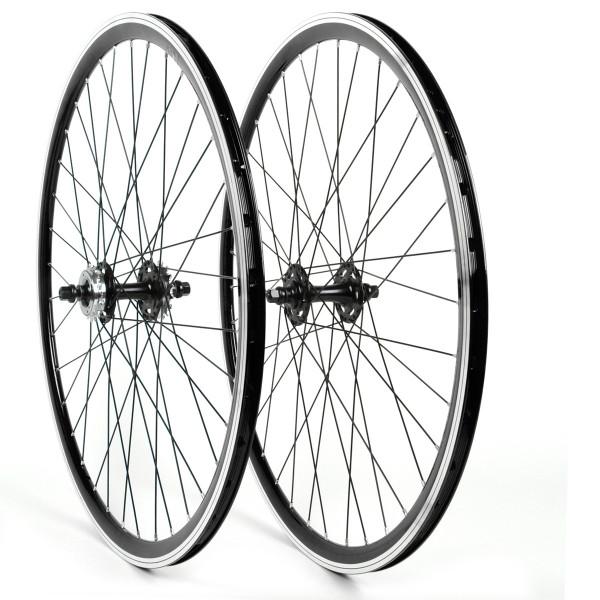 Singlespeed Fixie Laufradsatz 28 Zoll - schwarz / schwarz