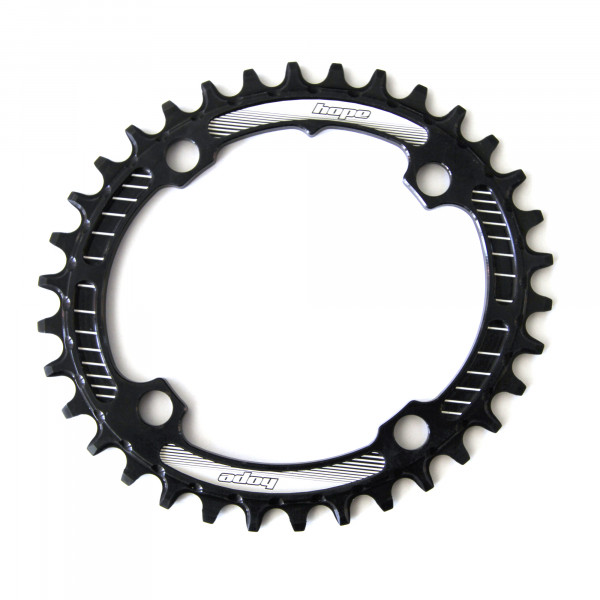 Oval Retainer Kettenblatt - schwarz