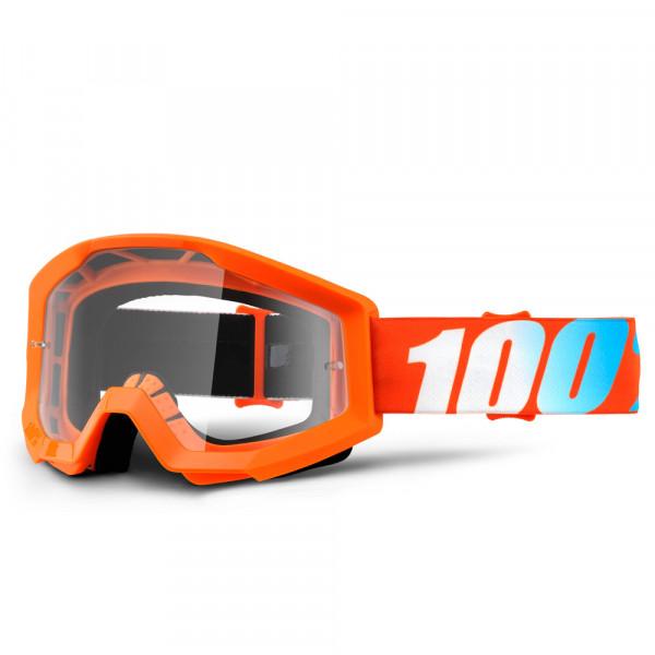 Strata MX Goggle - Orange Clear Lens