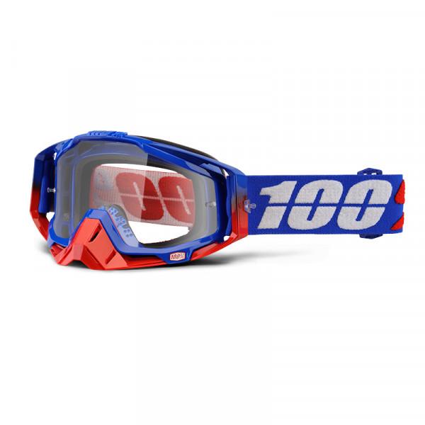 Racecraft Goggle Anti Fog Clear Lens - Republic