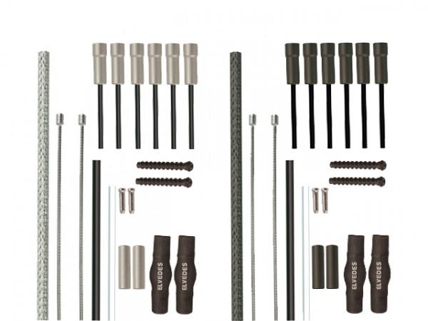 Zero-8-Duraline Stahlflex Schaltzugset