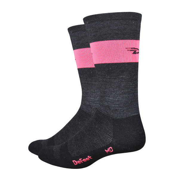 Wooleator Socken - Charcoal Grau/Pink