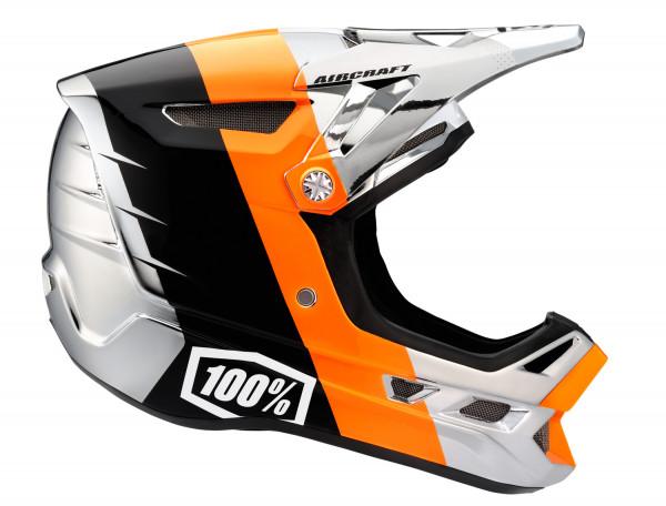 Aircraft Downhill Helm Chrome Orange