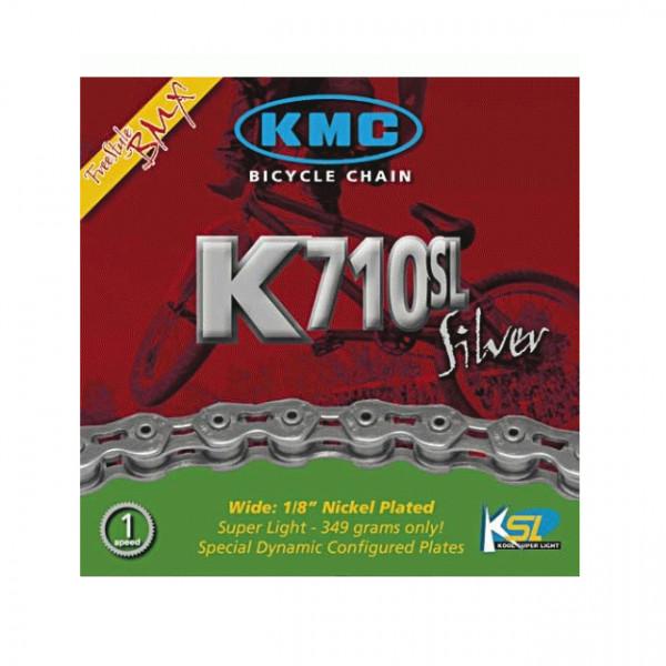 Kette BMX - KMC K710SL Nickel Plated Koolchain Light - silber
