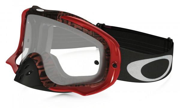 Crowbar MX Goggle - Distress Tagline Red/Purple - Clear