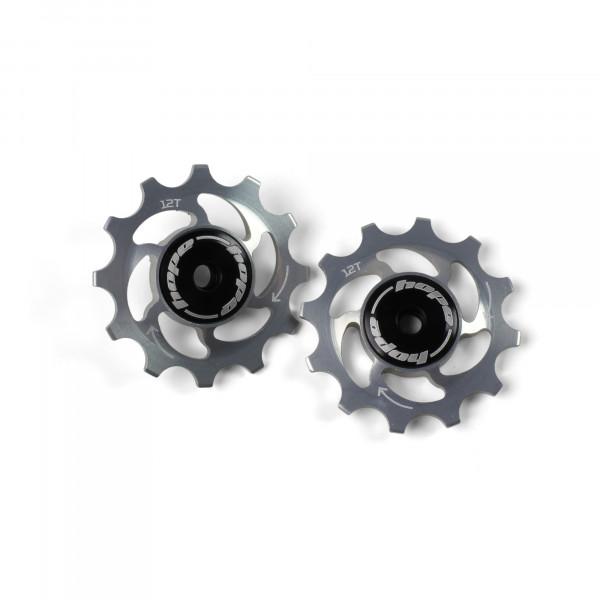 Jockey Wheels Schaltrollen - 12Z - silber