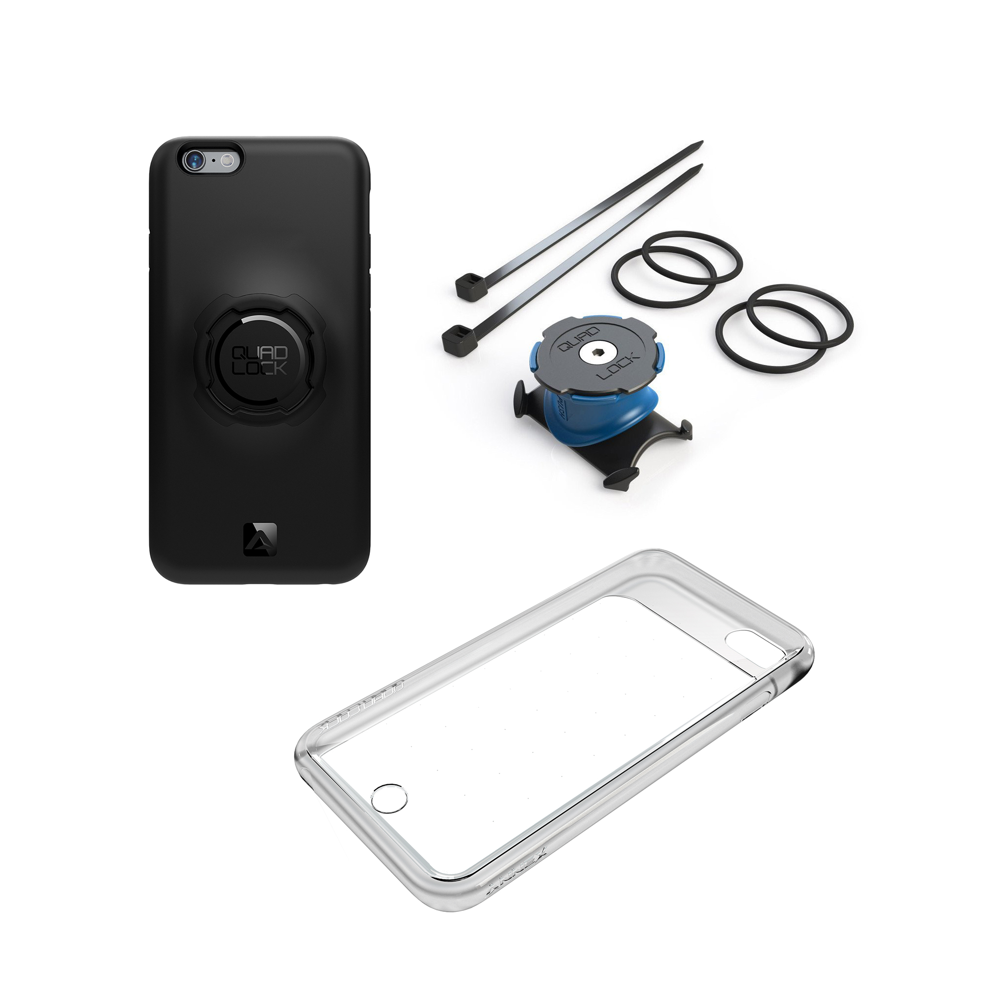 quad lock bike kit halterung h lle f r iphone 6 6s online kaufen bmo bike mailorder. Black Bedroom Furniture Sets. Home Design Ideas