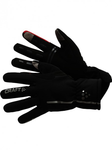 Siberian Gloves Black/Bright Red