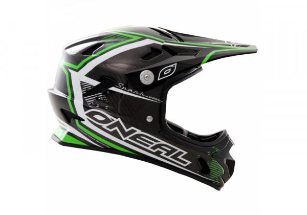 Spark Fidlock Carbon DH Fullface Helm - neon green