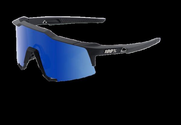 Speedcraft Sportbrille - Tall - Mirror Lense - Soft Tact Black