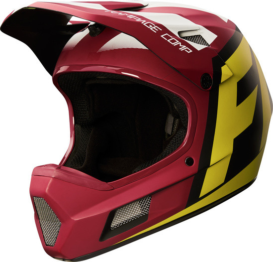 Rampage Comp Helm - Yellow/Red/Black