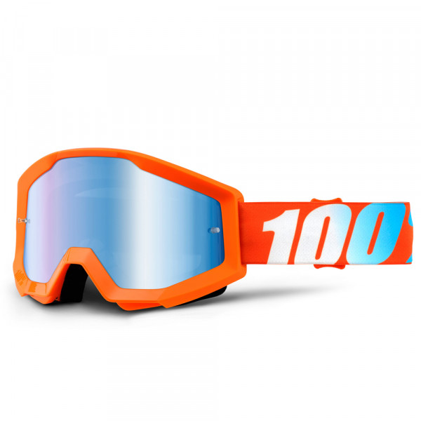 Strata MX Goggle - Orange Mirror Lens