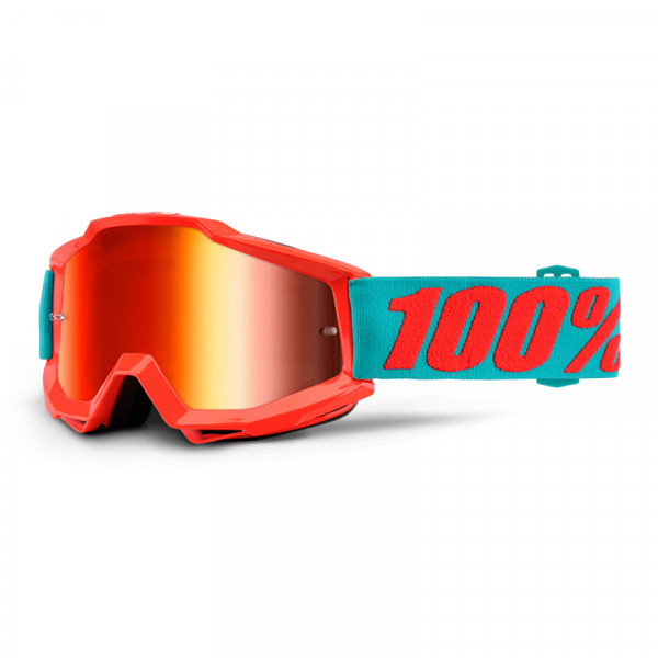 Accuri Goggle Anti Fog Mirror Lens - Passion Orange