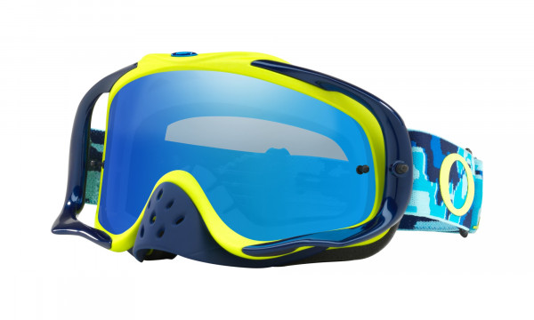 Crowbar MX Goggle - Thermo Camo Blue Lime