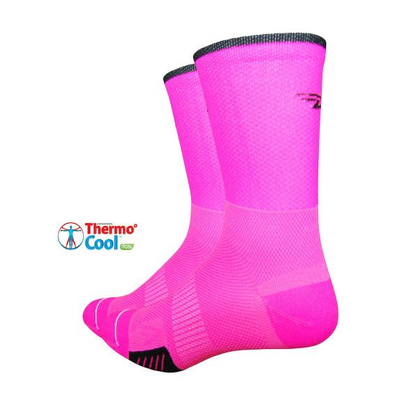 Cyclismo Socken - Thermocool - Pink/Schwarz