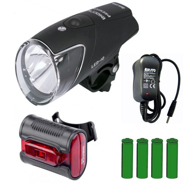 IXON IQ Premium Scheinwerfer + XBack senso Rücklicht mit Akkus + Ladegerät