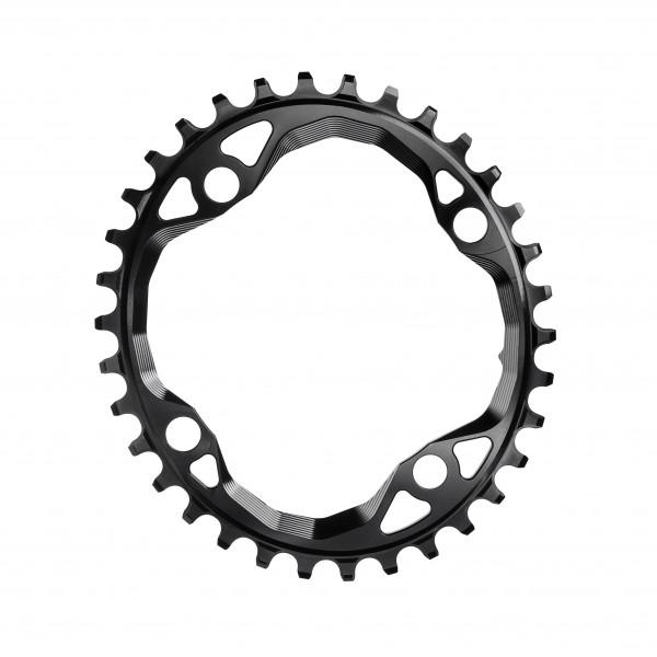 Kettenblatt - Oval - 104 BCD 4-loch - schwarz