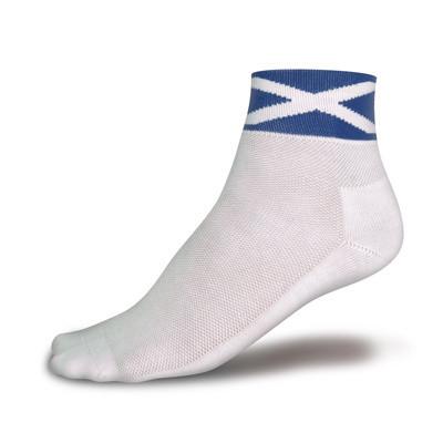 CoolMax® Race Socken: Andreaskreuz (Single) white