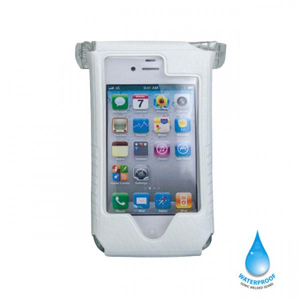 iPhone DryBag mit Lenker-/Vorbauhalterung - weiss