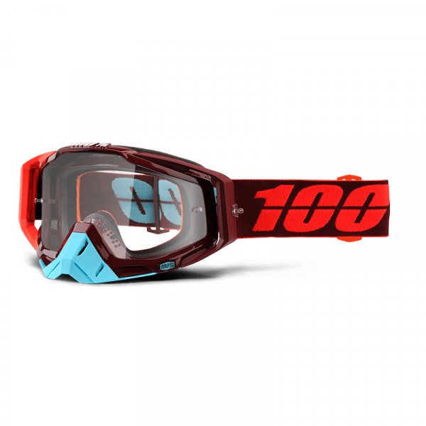 Racecraft Goggle Anti Fog Clear Lens - Kikass