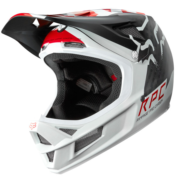 Rampage Pro Carbon Fullface Helm Libra White