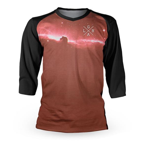 Trikot 3/4 Nebula Warm - Schwarz/Rot