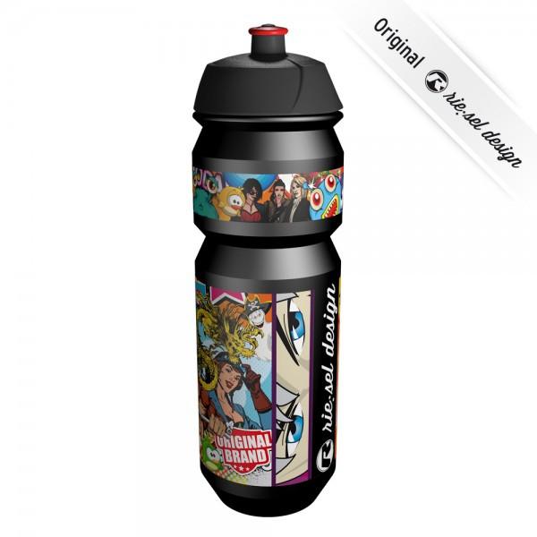 Trinkflasche fla:sche Stickerbomb