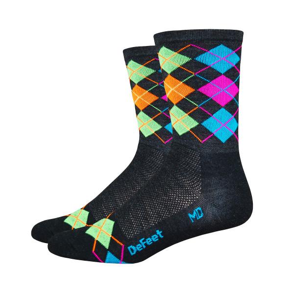 Wooleator Socken - Argyle - Schwarz/Bunt