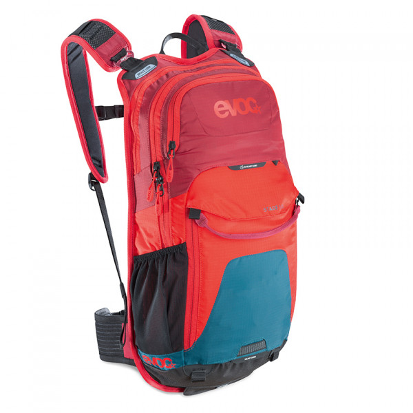 Stage 12l Allround Rucksack - petrol/red/ruby