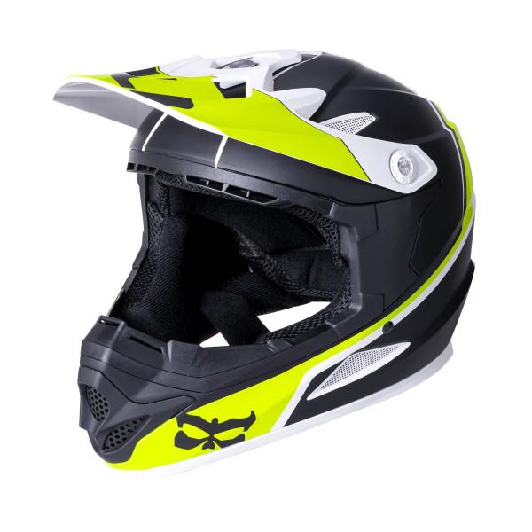 Zoka Fullface Helm - Block Lime