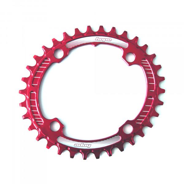 Oval Retainer Kettenblatt - rot