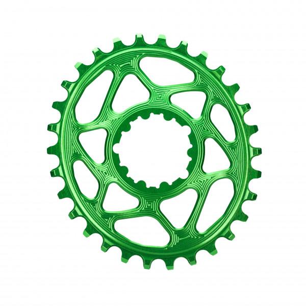 SRAM GXP Direct Mount Kettenblatt - Oval - 6 mm Offset - grün