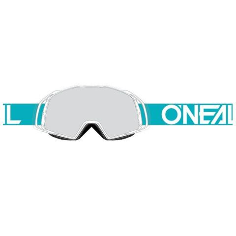 B20 Flat Goggle - teal/white - Lens clear