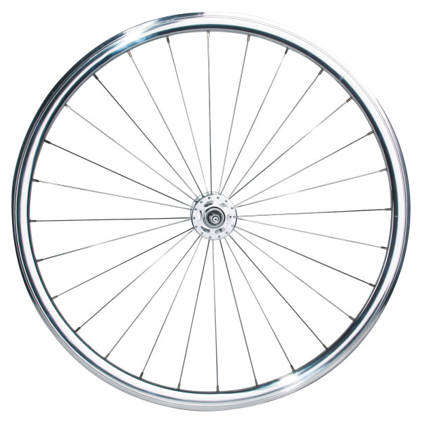 Singlespeed/Fixed Laufradsatz - silber poliert