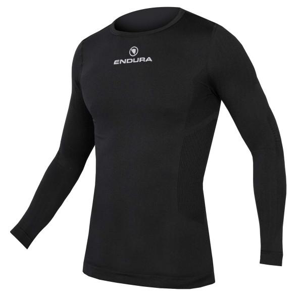 Funktion T-Shirt Langarm - Schwarz